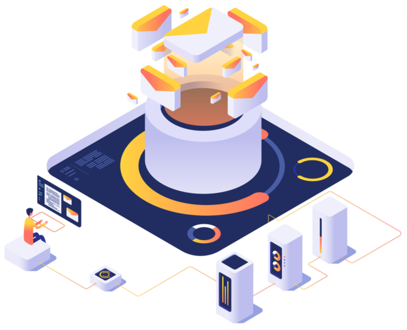 email-to-lead-isometric